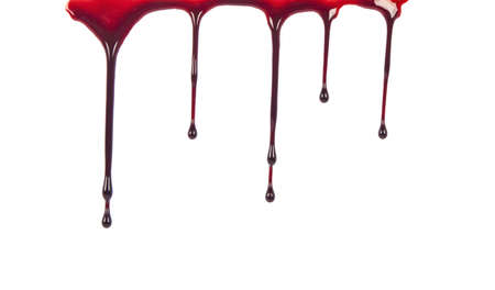 Dripping blood isolated on white Reklamní fotografie - 16136420