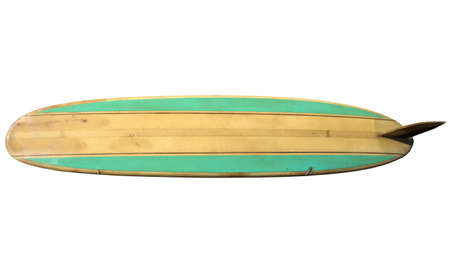 surfboard: Vintage Surfboard isolated on white