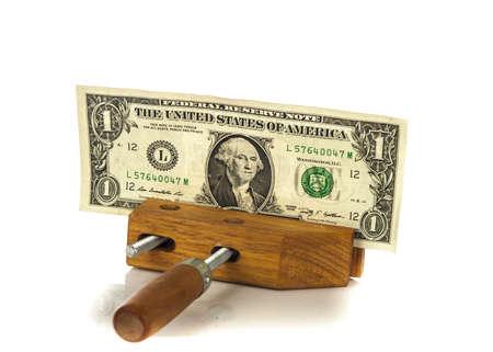 Money squeezed concept Stock Photo - 16136467