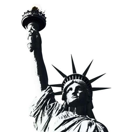 liberty island: statua della libert� in America-manhattan-n ew york city