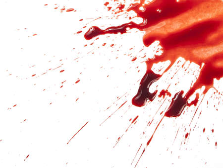 crimes: Blood splatter on white