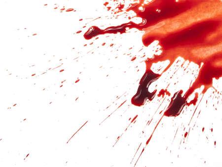 Blut Splatter auf weißem