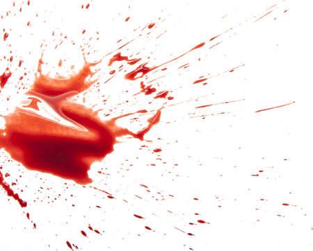 ink stain: Blood splatter on white
