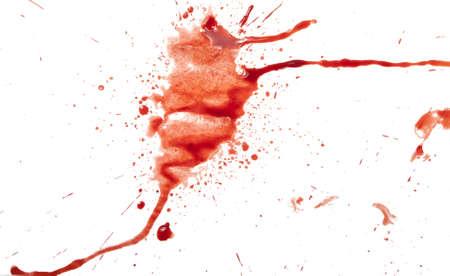 paint drop: Blood splatter on white