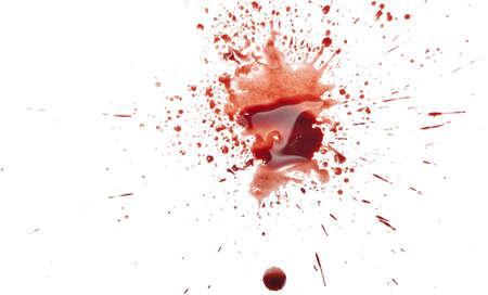 blood splatter: Blood splatter on white