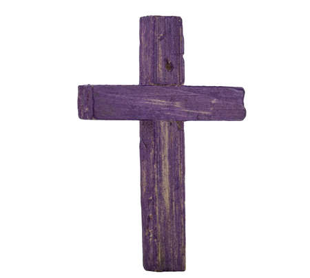 Wooden cross isolated on white Stock Photo - 16861251