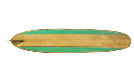 Retro Surfboard isolated on white  Stock Photo