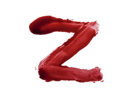 Blood fonts written with bloody fingers, the letter Z  photo