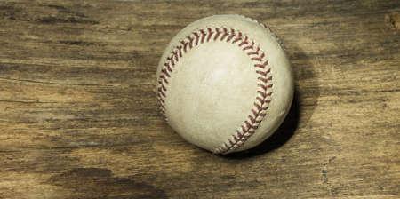 Baseball on old wood floor Stock Photo - 18132205