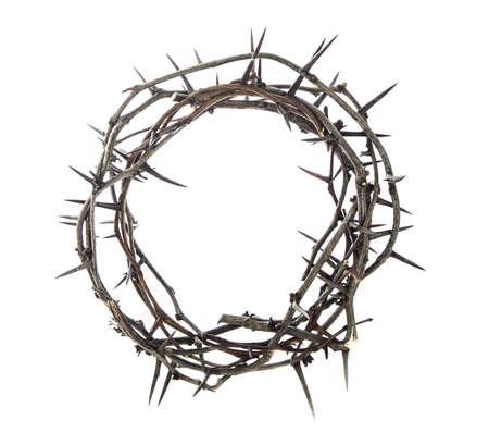 humildad: Corona de espinas en blanco