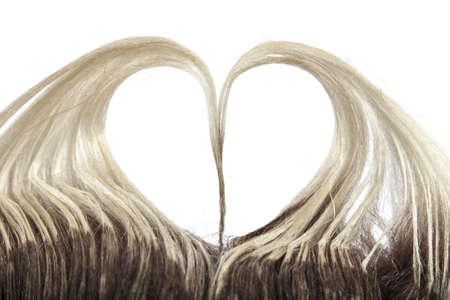 women s fashion: heart shape in hair