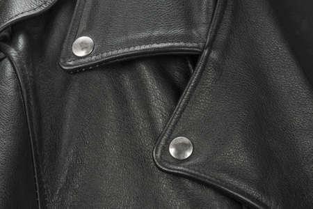 Vintage Leather biker jacket isolated on white Фото со стока
