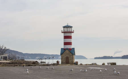 littoral: Small lighthouse on river