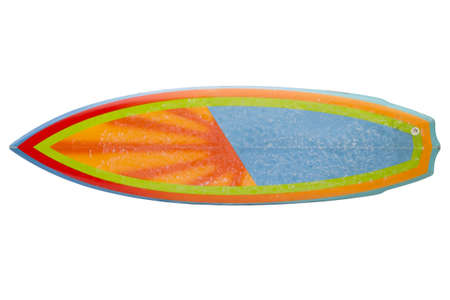 Vintage 80 s Surfboard isolated on white