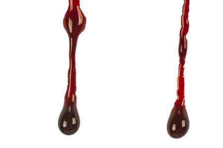 Dripping blood isolated on white Stock Photo - 21257932