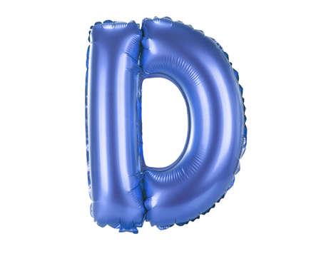 Blue balloon font part of full set upper case letters,D