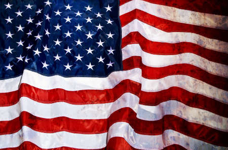 Grunge looking old USA flag photo