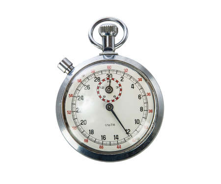 beat the competition: Vintage Stopwatch on white background Stock Photo