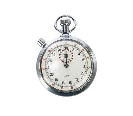 Vintage Stopwatch on white background Stock Photo