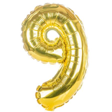 Fuente del globo de oro parte de un conjunto completo de los números, número nueve, 9 Foto de archivo - 24069632
