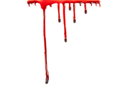paint drop: Blood Dripping