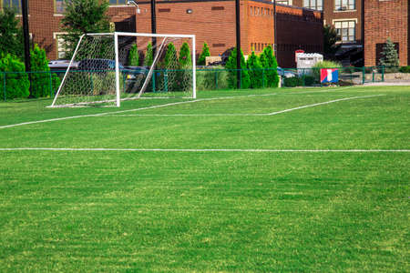 terrain foot: But de soccer Banque d'images