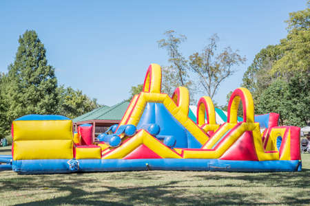 bounce house for kids with slides