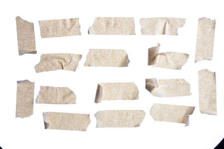 masking: masking tape close up isolated on white