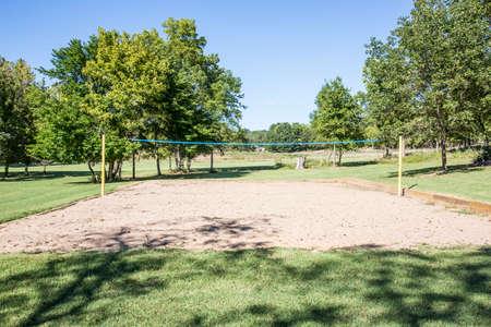 Beach volley ballat the park Imagens