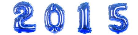 2015 foil Balloons on white photo