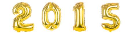 0 1 year: 2015 foil Balloons on white