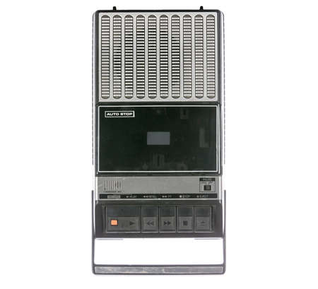 tape player: Retro Cassette Tape player and recorder isolated on a white Stock Photo