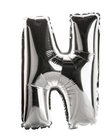 Chrome silver balloon font part of full set upper case letters, N Standard-Bild