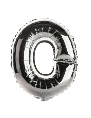 Chrome silver balloon font part of full set upper case letters, O