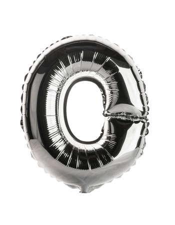 Chrome silver balloon font part of full set upper case letters, O