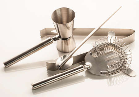 Set of bar or pub accessories Stock Photo