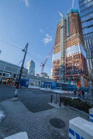NEW YORK, USA -January 9: view of buildings and construction work on Ground Zero,rebuilding the site on January 9, 2011, New York Stock Photo - 36605470