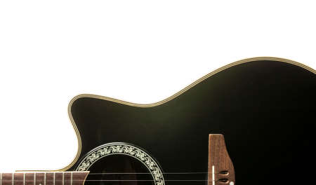 Black Guitar isolated on white