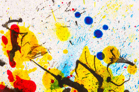Ink splatters background Stock Photo