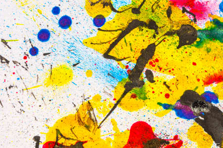 paint spill: Ink splatters background Stock Photo