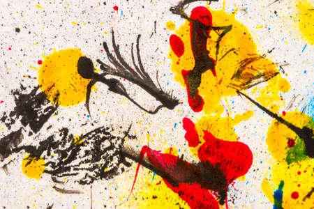 splatters: Ink splatters background Stock Photo