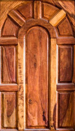 filling material: Wood door Stock Photo