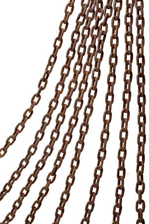 chains isolated over a white background