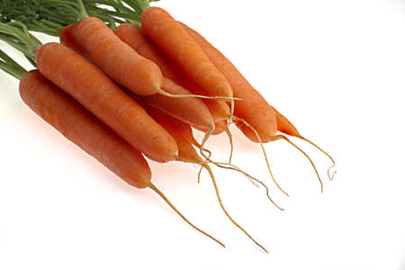 carrots, over a white background