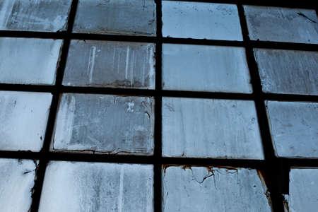 very dirty window Stock Photo