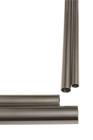 more similar images: four brushed steel pipes vertical composition, isolated over white, see my porfolio fore more similar images Stock Photo