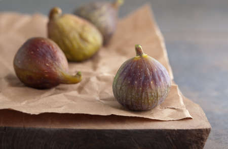 fig on a rustic table