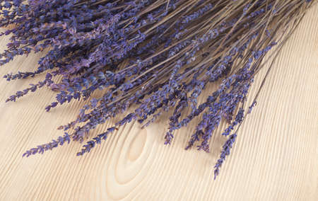 dried lavender on a wooden table