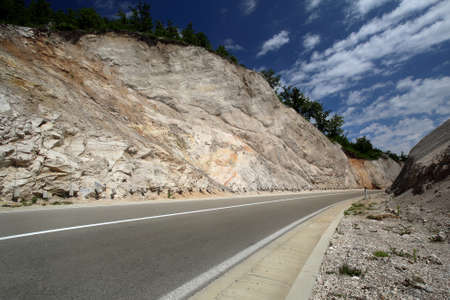 mountings: Road in rocky mountings, Montenegro Stock Photo
