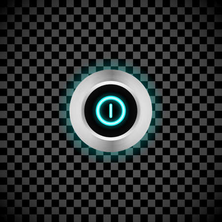 led: Vector realistic led switch button with background